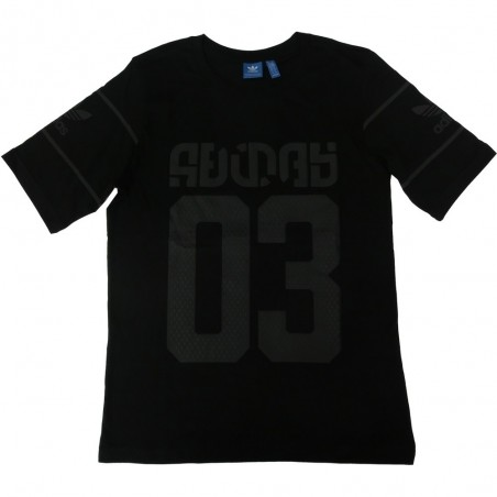 Adidas t-shirt uomo 3041 bs2684 winter d-tee, nero