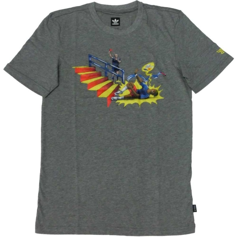 Adidas t-shirt uomo 3082 cf3122 pitched tee, grigio