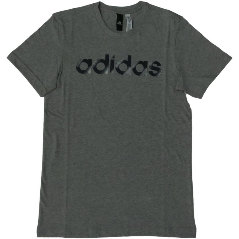 Adidas t-shirt unisex sliced linear grigio