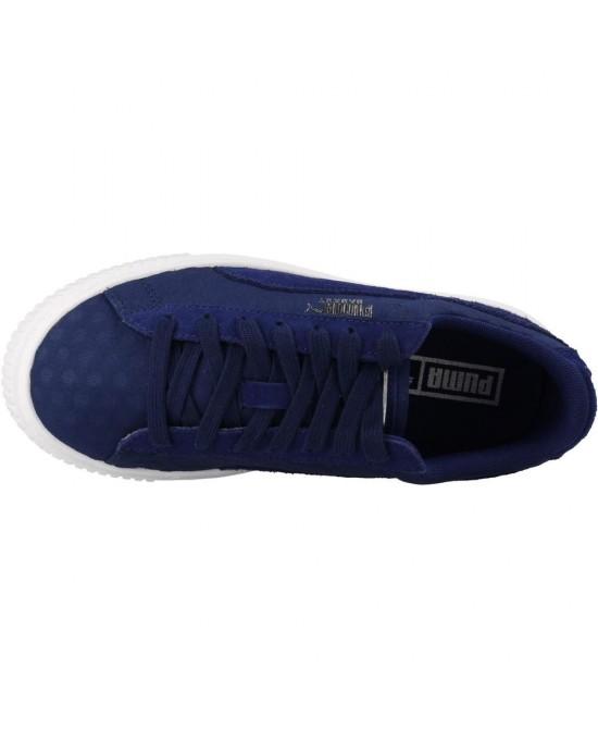 puma basket platform blu
