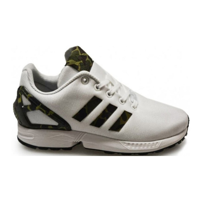 huge discount d4298 8638e adidas zx flux bianco