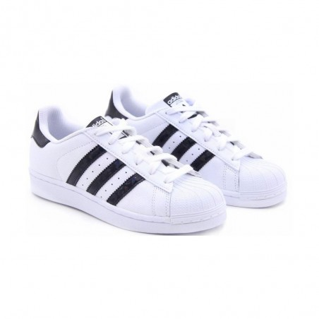 Adidas superstar J scarpe unisex bianco