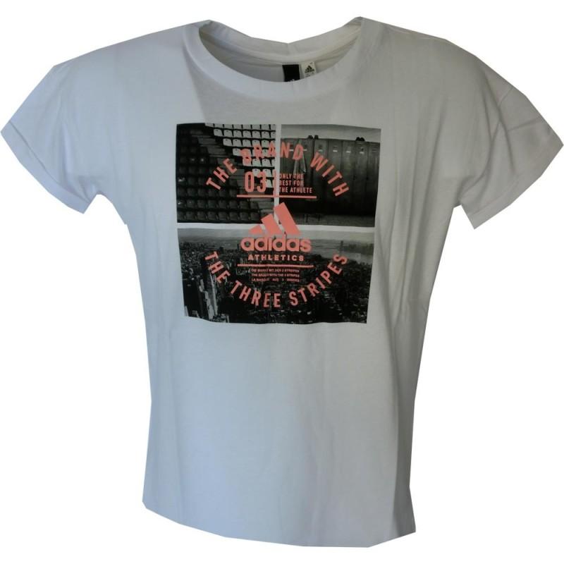 Adidas t-shirt donna, bianco