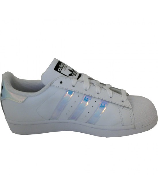 lower price with d2739 a791f ... Adidas superstar J scarpe unisex, bianco-argento ...