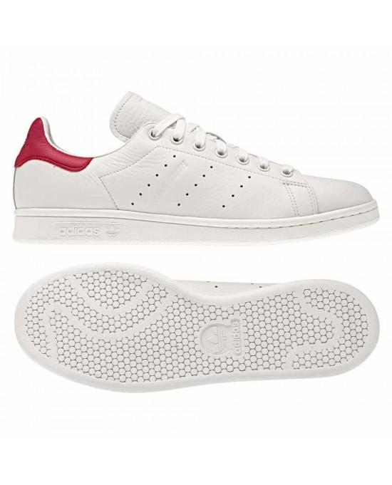 new concept 0d2be 6dd5f ... Adidas stan smith scarpe uomo, bianco-rosso ...