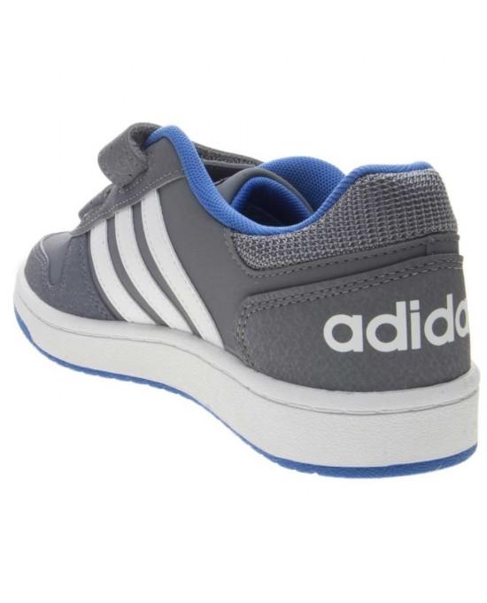 online retailer 692b5 535e3 ... Adidas hoops scarpe con strappi bambino, grigio