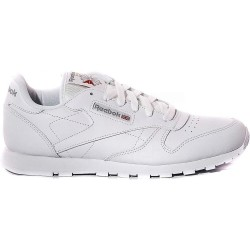 Reebok classic leather Junior, scarpe unisex, bianco