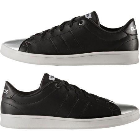Adidas advantage scarpe unisex, nero-argento