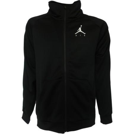 Jordan felpa zip uomo, nero