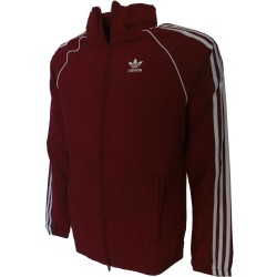 Adidas k-way cappuccio scomparsa, bordo