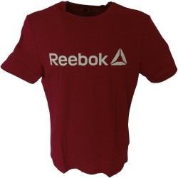 Reebok t-shirt uomo bordo