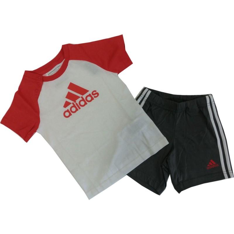 Adidas completino bambino bianco